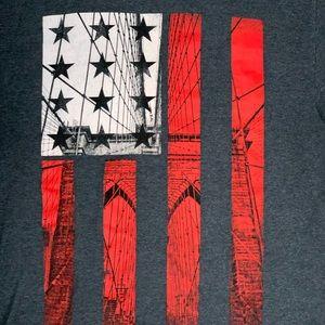 TONY HAWK Brooklyn Bridge Flag T-Shirt Medium